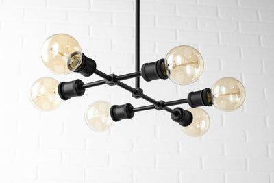 Edison Chandelier - Industrial Lighting - Light Fixture - Dinning Room Light - Farmhouse Lighting - Industrial Chic Lamp - Model No. 4562
