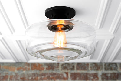 "Schoolhouse Light - Globe Ceiling Light  - Vintage Lighting - Farmhouse Lighting - Ceiling Light Fixture - 12"" Schoolhouse Globe"
