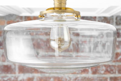 Clear Globe - Schoolhouse Lighting - Large Ceiling Light - Farmhouse Lighting - Light Fixture - 12 inch Schoolhouse Globe - Model No. 2477