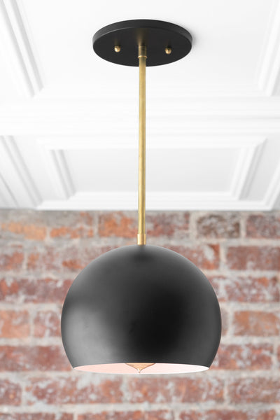 Hanging Light - Pendant Light - Mid Century Lighting - Modern Light Fixture - Kitchen Lighting - Black Pendant - Model No. 6559