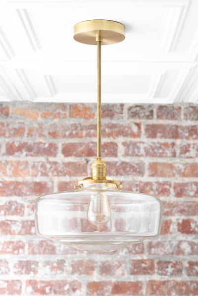 Schoolhouse Globe - Pendant Light - Edison Lighting - Large Globe Pendant - Kitchen Lighting - Hanging Lamp - Model No. 9518