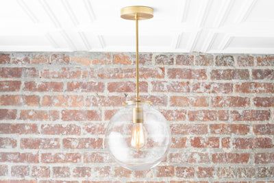 Modern Brass Light - Modern Chandelier - Hanging Chandelier - Brass Pendant Light - Mid Century Lighting - Foyer Light - Model No. 3972
