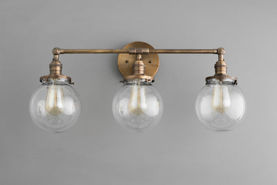 Globe Vanity - Bathroom Sconce - Farmhouse Lighting - Bathroom Vanity - Bathroom Lighting - Industrial Lighting - Model No. 3170