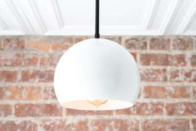 White Pendant Light - Pendant Lighting - Hanging Light - Modern Pendant - Kitchen Lighting - Kitchen Island - Model No. 3822