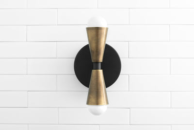 Black Sconce - Industrial Wall Lamp - Farmhouse Lighting - Retro Lighting - Rustic Lighting - Wall Lamp - Bathroom Lighting