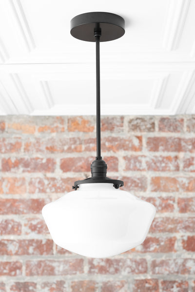 Black Pendant - Schoolhouse Lighting - Modern Hanging Light - Mid Century Lighting - Pendant Fixture - Pendant Light - Model No. 2476