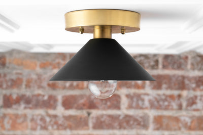 Flush Mount Fixture - Black Ceiling Light - Farmhouse Lighting - Ceiling Light - Ceiling Lamp - Industrial Lighting - Model No. 2473