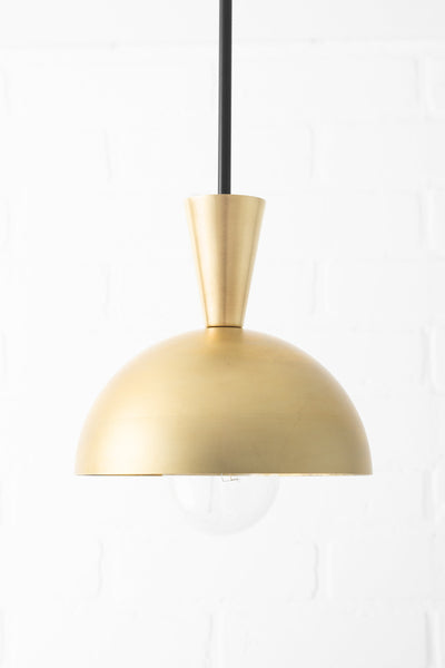 Pendant Lighting - Brass Pendant - Island Light - Kitchen Island - Mid Century Lighting - Modern Lighting - Ceiling Fixture - Foyer Light