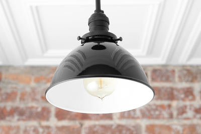 Black Pendant Light - Farmhouse Light - Industrial Lighting - Kitchen Island - Island Light - Hanging Light - Foyer Light - Model No. 2089