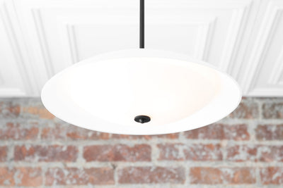 Glass Pendant - Frosted Glass Light - Mid Century Lighting - Modern Lighting - Modern Brass Light - Kitchen Island - Island Light