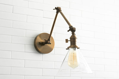Articulating Sconce - Kitchen Sconce - Wall Sconce - Swing Arm Light - Farmhouse Lighting - Farmhouse Sconce - Rustic Lighting