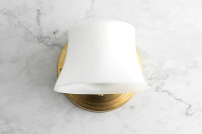 Wall Light - Bathroom Sconce - Art Deco Sconce - Retro Light - Small Shade Light - Model No. 8334