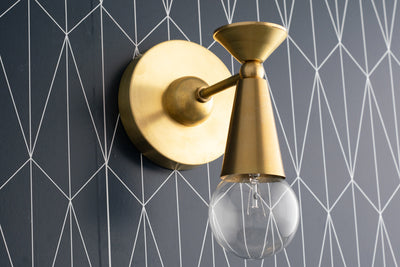 Art Deco Lighting - Art Deco Sconce - Brass Sconce - Geometric Sconce - Modern Lighting - Modern Sconce - Wall Sconce - Model No. 1044