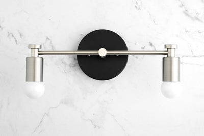 Brushed Nickel Vanity - Art Deco Lighting - Art Deco Sconce - Bathroom Wall Light - Modern Lighting - Modern Vanity - Model No. 5389