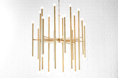 Art Deco Chandelier - Modern Chandelier - Brass - Foyer Light - Art Deco Fixture - Light Fixture - Dining Room Light - Model No. 6648