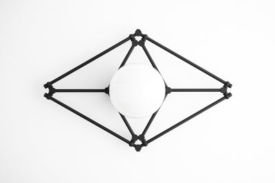 Geometric Fixture - Ceiling fixture - Ceiling Lamp - Brass Light Fixture - Art Deco Lighting - Modern Ceiling Light - Model No. 4214