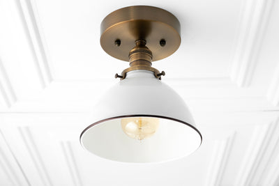 Flush Ceiling Light - Industrial Chic - Modern Light Fixture - Ceiling Lights - Hardwired Light
