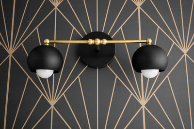 Bathroom Light - Geometric - Vanity Fixture - Orb - Mirror Lighting - Wall Vanity Light - Vanity Sconce - Bathroom Lamp - Model No. 4420