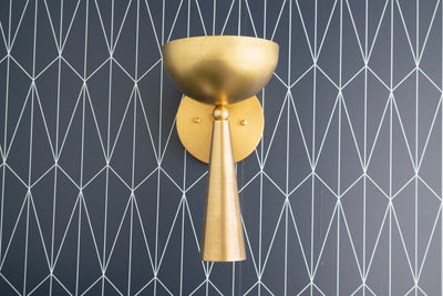 Art Deco Sconce - Modern Lighting - Art Deco Lighting - Brass Sconce - Mid Century Lighting - Bathroom Sconce - Model No. 0314