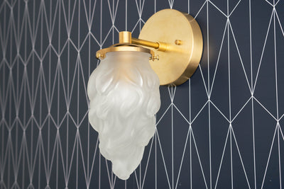 Art Deco - Torch Sconce - Brass Wall Light - Wall Sconces - Bathroom Wall Light - Deco Sconce - Art Deco Bathroom - Hallway Lighting