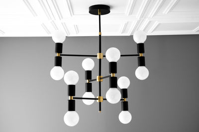 Chandelier Lighting - Modern Chandelier - White Globe - Art Deco - Dining Table Light - Brass Black - Mid Century - Light Fixtures