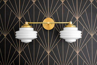 Art Deco - Mirror Light - Brass Vanity Light - Art Deco Bathroom - Modern Deco Light - Streamline Modern - Vanity Fixtures - Model No. 9479