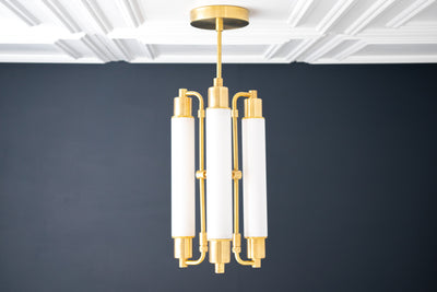 Art Deco - Chandelier Lighting - LED Tube Light - Ceiling Lamp - Hanging Light - Unique Lighting - Model No. 5560
