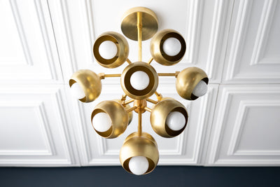 Brass Chandelier - Modern Chandelier - Cluster Light - Cluster Chandelier - Hanging Lights - Stairway Light - Unique Light - Model No. 3198