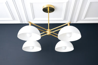 Dome Light - Art Deco Chandelier - Unique Lighting - Art Deco Lighting - Modern Lighting - Farmhouse Lighting - Model No. 6520