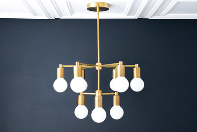 9 Bulb Chandelier - Designer Lighting - Ceiling Light - Simple Modern Chandelier - Multi Bulb Light - Chandelier Lighting - Model No. 3309