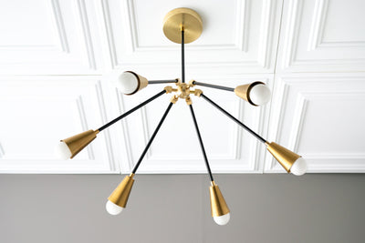 Round Chandelier - Art Deco Light - Art Deco Chandelier - Art Deco Lighting - Modern Art Deco - Light Fixture - Model No. 4034