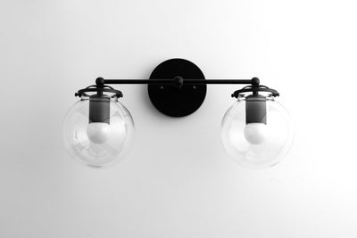 Black Vanity Light - Industrial Lighting - Industrial Vanity - Wall Light Fixture - Industrial Bathroom - Lighting - Wall Lamp - Vanity