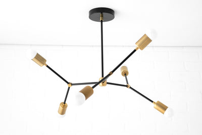 Modern Chandelier - Black Mobile Light - Mid Century Lighting - Ceiling Lighting - Black Modern Light - Model No. 7409