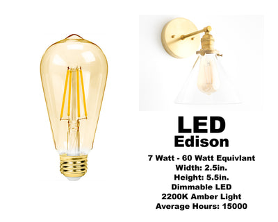 Edison and Vintage Style Bulbs (5 pack)