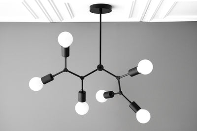 Molecule Light - Modern Chandelier - 6 Bulb Light - Branching Chandelier - Ceiling Lighting - Model No. 2523