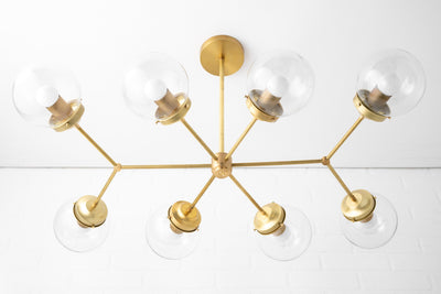 Chandelier Lighting - Sputnik Lighting - Sputnik Light - Sputnik Chandelier - Brass Chandelier - Unique Lighting - Model No. 0029