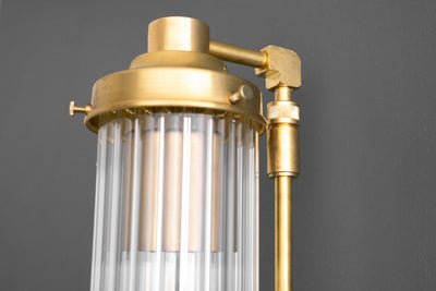 Scalloped Tube Light - Art Deco Sconce - Art Deco Vanity - Wall Sconce - Bathroom Vanity Light - Modern Lighting - Model No. 5223