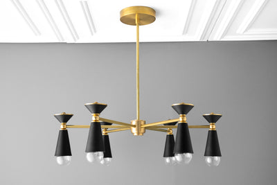 Art Deco Chandelier - Large Chandelier - Dining Room Chandelier - Modern Chandelier - Modern Art Deco - Foyer Lighting - Model No. 1300