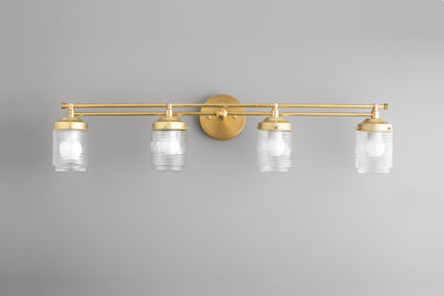 Modern Lighting - 4 Globe Vanity - Art Deco Vanity - Farmhouse Vanity - Art Deco Lighting - Farmhouse Lighting - Model No. 4436