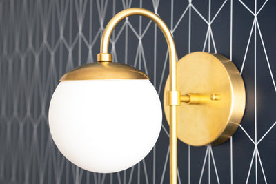 Chrome Sconce - Globe Sconce - Wall Light Globe - Brushed Nickel - Bathroom Sconces - Vanity Sconce - Bathroom Fixture - Model No. 7164