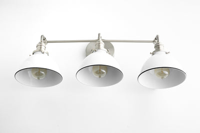 Contemporary Light - Bathroom Lighting - Wide Vanity  - Brushed Nickel - Makeup Light - Bath Light - Light Fixture - Model No. 8705