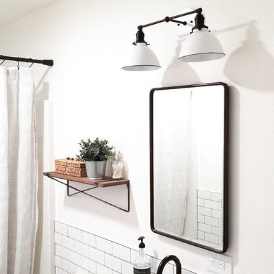 Farmhouse Lighting - Modern Vanity Light - Vanity Light Fixture - White Wall Light - Farmhouse Wall Light - Mirror Light - Model No. 9091