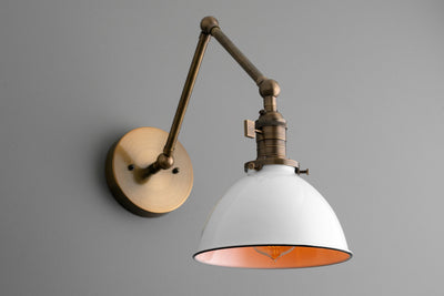 Rustic Lighting - Farmhouse Shade - Wall Lamp - Bedside Sconce - Sconce - Metal Shade - Edison lamp - Spot Light - Model No. 8551