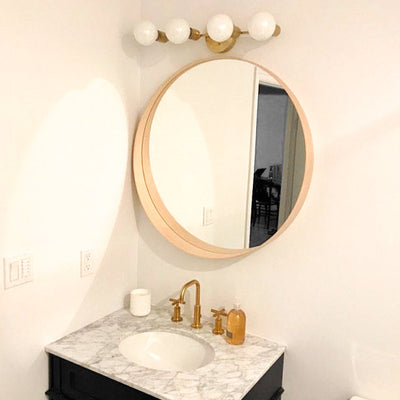 Mirror Vanity - Mirror Light - 4 Bulb Vanity - Bathroom Vanity - Wall Light - Vanity Light - Contemporary - Retro - Model No. 1113