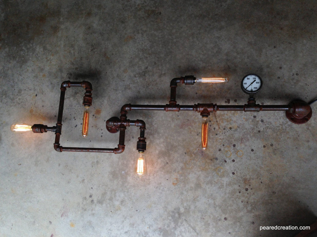 Edison Custom Wall Lamp - Steampunk Furniture - Industrial Lighting