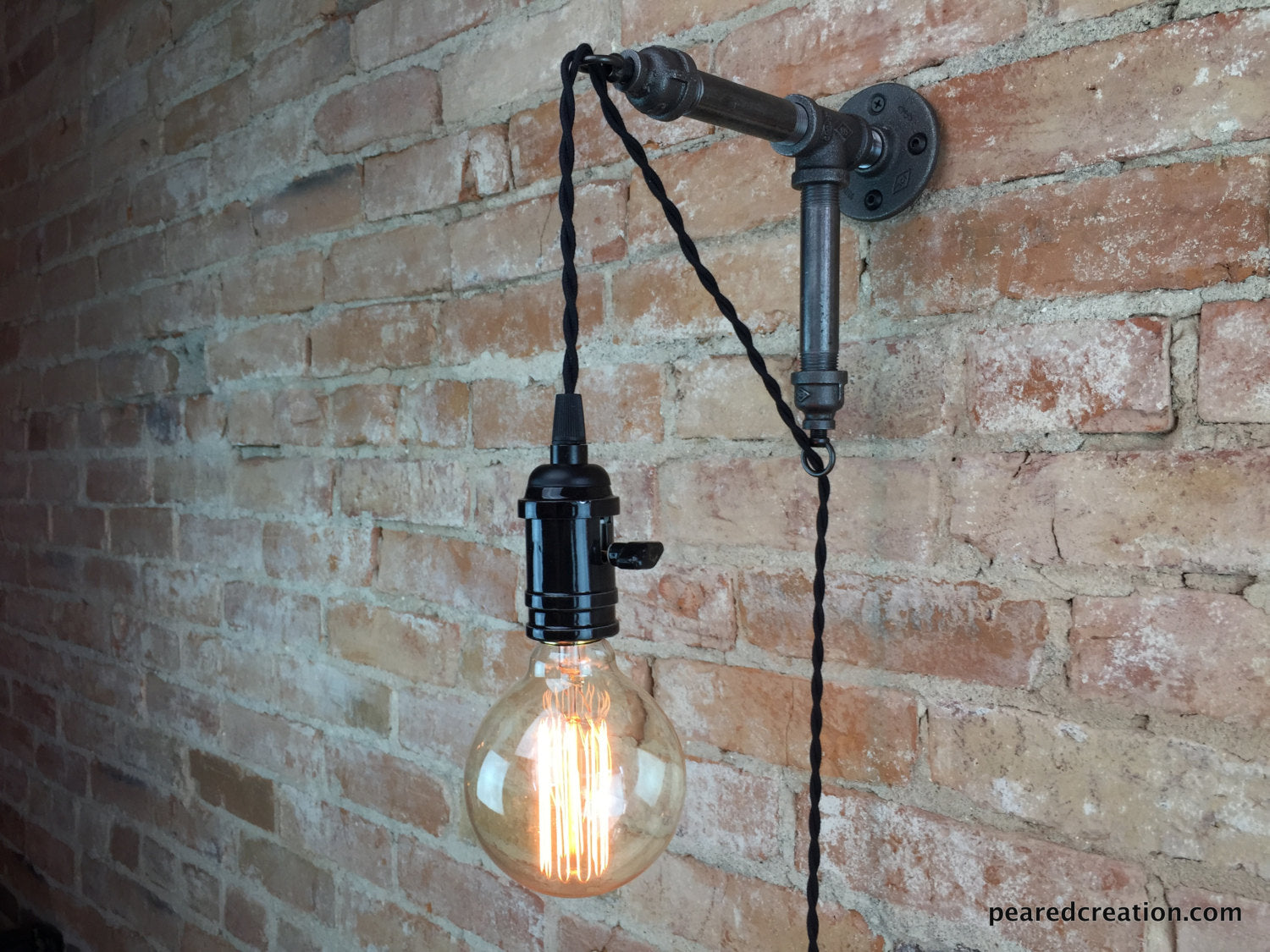 competitive price 94abe 6725b Industrial Wall Sconce - Pendant Edison - Hanging Lamp - Edison Bulb - Wall  Light