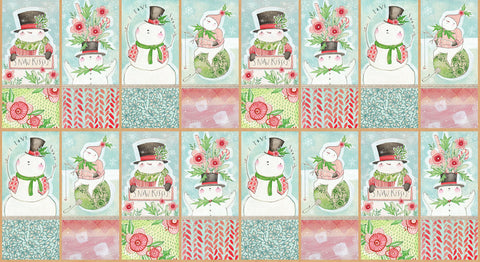 Cori Dantini for Blend Fabric -  Snow Fun - Snow Sweet Panel Panel
