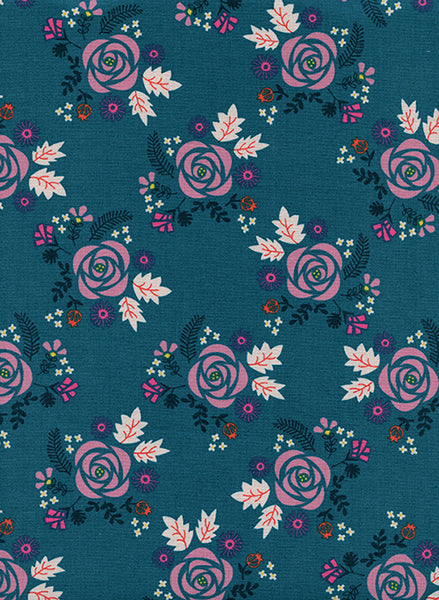 Cotton + Steel -  Akoma - Wildflower Teal