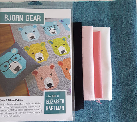 Pink Bjorn Bear Cushion Kit - Elizabeth Hartman