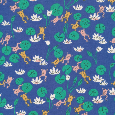 Cloud 9 - Natural Beauty by Louise Cunningham - Felbrigg Frogs Blue